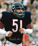 Dick Butkus Chicago Bears - Running Signed in Silver Photo