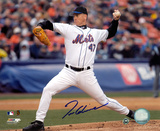 Tom Glavine New York Mets - Action Autographed Photo (Hand Signed Collectable) Photo