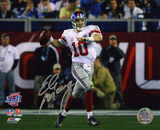Eli Manning New York Giants - Super Bowl XLII Roll Out Autographed Photo (Hand Signed Collectable) Photo
