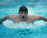 Mark Spitz Olympian -Swimming with 7 Gold in 72 Inscription Photo
