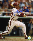 Mike Schmidt Philadelphia Phillies With HOF 95 Inscription Photo