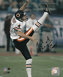 Brad Maynard Chicago Bears with Go Bears Inscription Photo