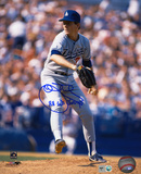 John Tudor Los Angeles Dodgers with 88 WS Champs Inscription Photo