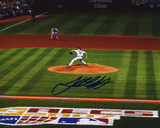 Josh Beckett Signed: Boston Red Sox Photo