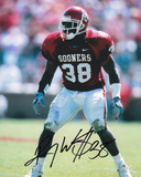 Roy Williams Oklahoma Sooners Maroon Jersey Autographed Photo (Hand Signed Collectable) Photo