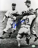 Johnny Podres Los Angeles Dodgers -Celebration Autographed Photo (Hand Signed Collectable) Photo