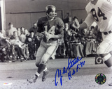 YA Tittle New York Giants with HOF 71 Inscription Photo