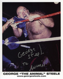 George Steele - On the Ropes with The Animal  Autographed Photo (Hand Signed Collectable) Photo