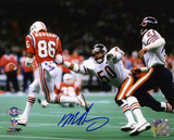 Mike Singletary Chicago Bears - Super Bowl XX Action Autographed Photo (Hand Signed Collectable) Photographie