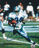Larry Brown Dallas Cowboys with SB XXX MVP Inscription Photo