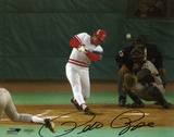 Pete Rose Cincinnati Reds Hit 4192 Autographed Photo (Hand Signed Collectable) Photo