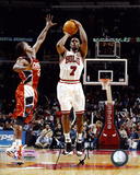 Ben Gordon Chicago Bulls -vs Charlotte- Autographed Photo (Hand Signed Collectable) Photo
