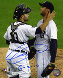 Armando Galarraga Detroit Tigers with 6-2-10  Autographed Photo (Hand Signed Collectable) Photo