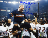 Buddy Ryan Chicago Bears  SB XX Champs Inscription Photo