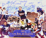 Chicago Bears 1985 Team  with 30 Signatures Photo