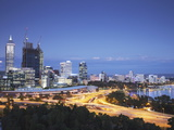 View of City Skyline, Perth, Western Australia, Australia, Pacific Photographic Print by Ian Trower