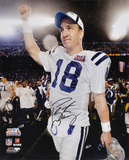 Peyton Manning Indianapolis Colts Super Bowl XLI Action Autographed Photo (Hand Signed Collectable) Photo