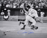 Pete Rose Cincinnati Reds - Collision Autographed Photo (Hand Signed Collectable) Photo