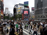 Shibuya Crossing in Front of the Shibuya Train Station is One of Tokyo's Busiest City Centers Photographic Print