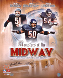 Bears Monsters...Midway Butkus, Singletary, Urlacher Autographed Photo (Hand Signed Collectable) Photo