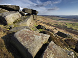 Stannage Edge, Hope Valley, Derbyshire, England, Uk Photographic Print by David Wogan