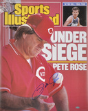 Pete Rose Cincinnati Reds - Sports Illustrated Cover Autographed Photo (Hand Signed Collectable) Photo