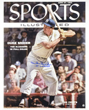 Duke Snider Los Angeles Dodgers - Sports Illustrated Cover with 1955 WS Champs Inscription Photo