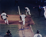 Bill Buckner & Mookie Wilson  1986 World Series Photo