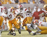 Reggie Bush USC Trojans Stiff Arm Autographed Photo (Hand Signed Collectable) Photo