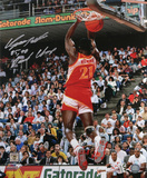 Dominique Wilkins Atlanta Hawks with 85, 90 Dunk Champ  Autographed Photo (Hand Signed Collectable) Fotografía