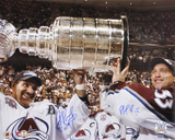 Patrick Roy & Ray Bourque Avalanche 2001 Stanley Cup Autographed Photo (Hand Signed Collectable) Photo