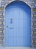 Blue Doorway, Chefchaouen, Morocco, North Africa, Africa Photographic Print by Guy Edwardes