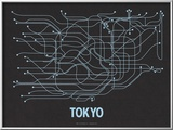 Tokyo (Black Licorice &amp; Light Blue) Poster by  Line Posters
