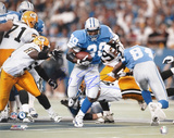 Barry Sanders Detroit Lions Action Running vs. Packers Autographed Photo (Hand Signed Collectable) Foto