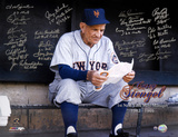 1962 New York Mets Manager Tribute 21 Signatures Autographed Photo (Hand Signed Collectable) Photo