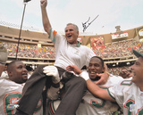 Don Shula Miami Dolphins - Carried Off Field Autographed Photo (Hand Signed Collectable) Photo