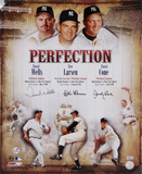 Don Larsen, David Cone & David Wells New York Yankees Autographed Photo (Hand Signed Collectable) Photo