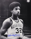 Julius Erving Massachusetts Minutemen B&W Autographed Photo (Hand Signed Collectable) Photo