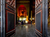 Qingyang Gong Monastery Temple Complex, Chengdu, Sichuan, China, Asia Photographic Print by Charles Bowman