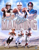 Archie, Peyton, and Eli Manning Multi Autographed Photo (Hand Signed Collectable) Photo