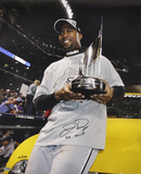 Jermaine Dye White Sox w/ MVP Trophy with WS MVP Autographed Photo (Hand Signed Collectable) Photo