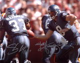 Shaun Alexander and Matt Hasselbeck Seattle Seahawks Autographed Photo (Hand Signed Collectable) Photo