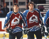 Joe Sakic and Peter Forsberg Colorado Avalanche Photo