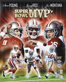 Joe Montana, Jerry Rice & Steve Young San Francisco 49ers - Super Bowl MVP's Collage Bowl Photo