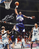 Karl Malone Utah Jazz - Slam Dunk Autographed Photo (Hand Signed Collectable) Photo
