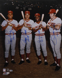 Pete Rose, Johnny Bench, Tony Perez, and Joe Morgan- Big Red Machine with Inscriptions Photo
