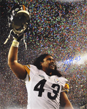 Troy Polamalu PittsburgSteelers Super Bowl XLIII Autographed Photo (Hand Signed Collectable) Photo