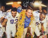 "Urban Meyer Florida Gators Gatorade w/  ""08 NAT CHAMPS"" Autographed Photo (Hand Signed Collectable) Photo"