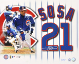Sammy Sosa Chicago Cubs Collage Autographed Photo (Hand Signed Collectable) Photo
