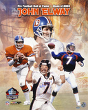 John Elway Denver Broncos Hall Of Fame 2004 Collage Autographed Photo (Hand Signed Collectable) Photo